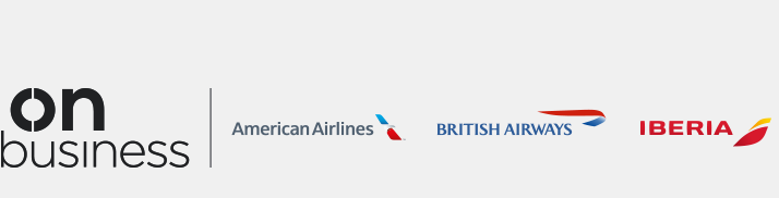 On Business Company Travel from British Airways, Iberia and American Airlines